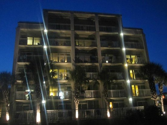 Best Western Plus Grand Strand Inn & Suites : view of hotel at night from beach
