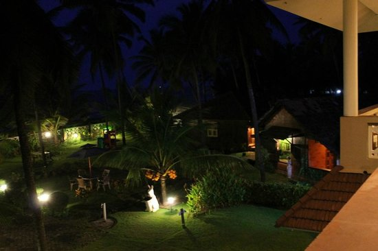 Asokam Beach Resort: View from room at night