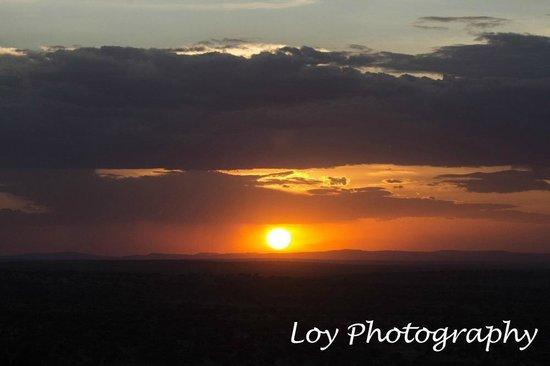 Lobo Wildlife Lodge: sunset at Lobo