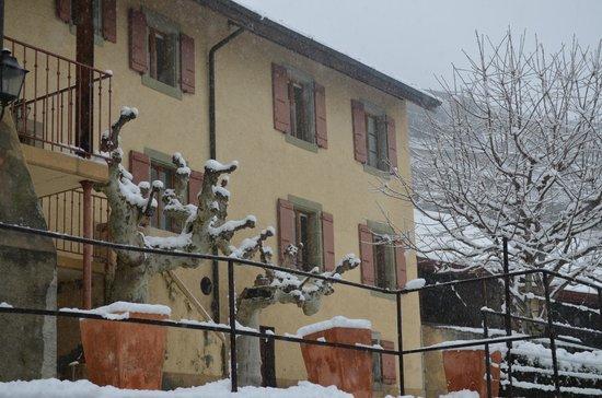 Domaine du Burignon: Jardin en hiver
