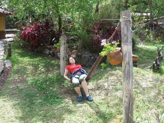 Las Chullpas Eco Lodge : Relaxing in Las Chullpas eco-lodge.