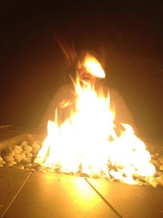Glen Oaks Big Sur: common area fireplace