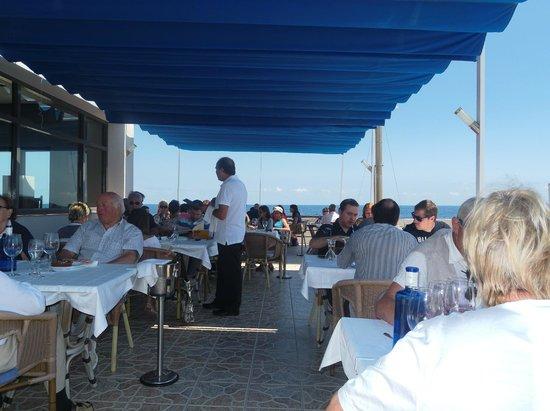 Restaurante Timon: Terrasse