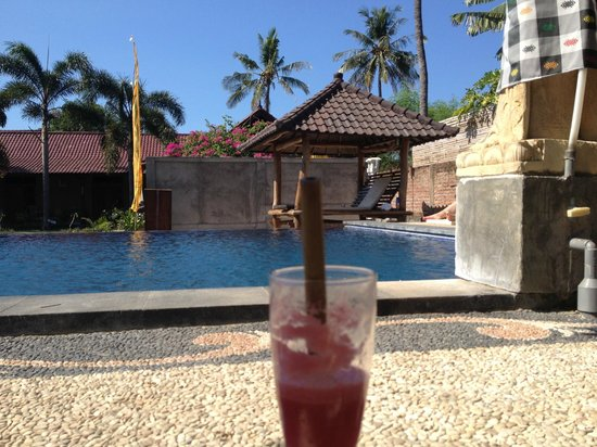 Kubuku Ecolodge and Resto : Chilling out in the pool