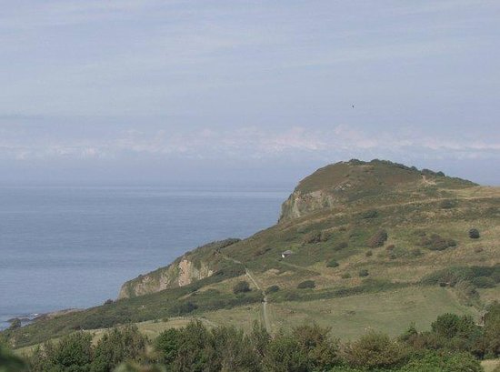 Golden Coast Holiday Park: Wonderful views to Hillsborough and the Bristol Channel