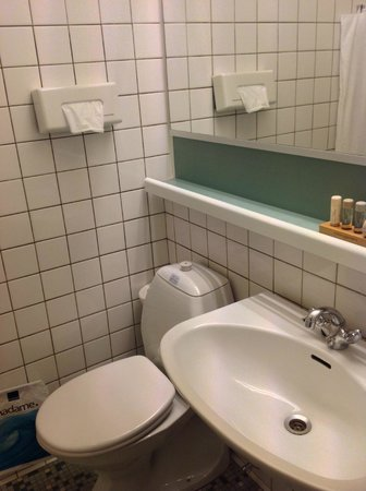 Hotel Jutlandia: Compact Bathroom