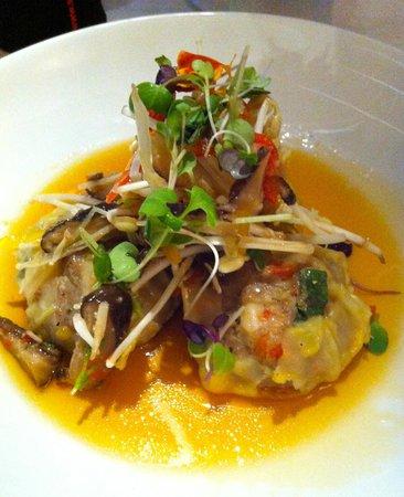 Salsa Bar & Grill : Dumplings in an asian sweet/spicy broth