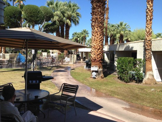 Desert Isle of Palm Springs: A really nice sunny morning on the patio