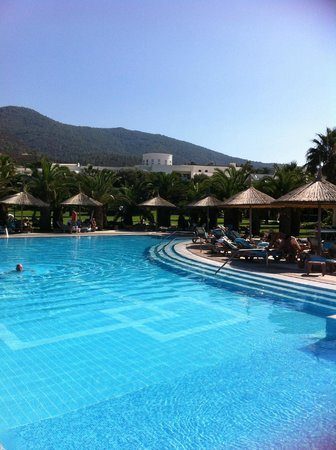 Hotel Samara: piscine  située au niveau du restaurant extérieur.
