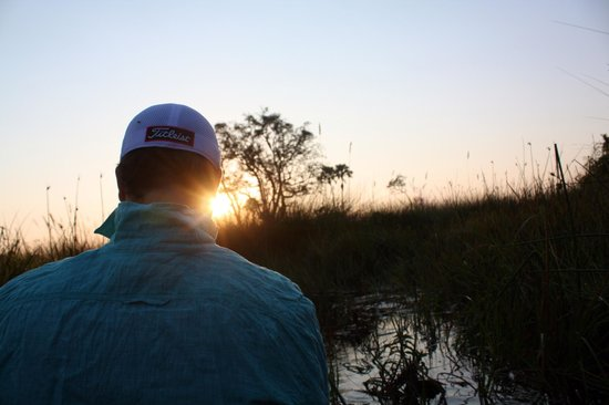 Oddballs' Palm Island Luxury Lodge : Sunrise on the Okavango