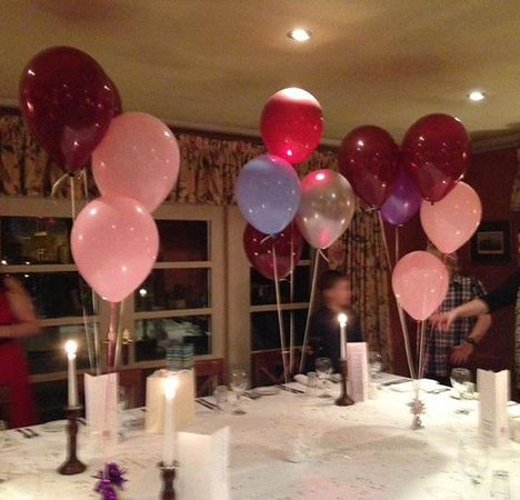The White Bear Country Inn: Table decorated for the party