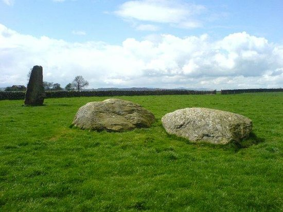 Long Meg and her Daughters: view across