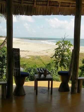 Ras Kutani: Fab view from the living area across the lagoon to the beach