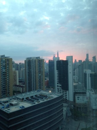 Courtyard by Marriott Shanghai Central: view from our room on the 28th floor