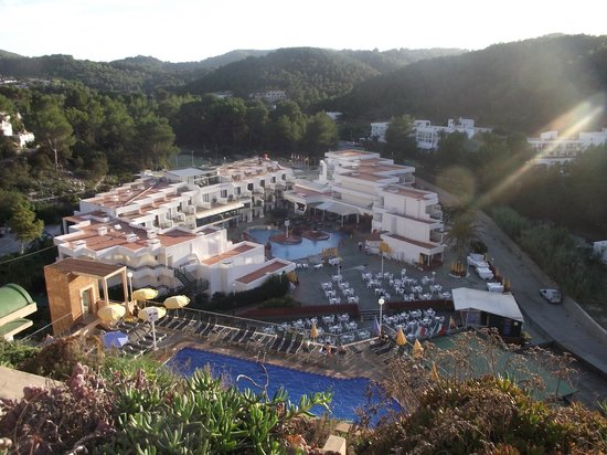 San Miguel Beach Club: view from my balcony onto the complex