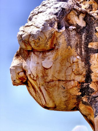 Kagga Kamma Nature Reserve: Old person's face
