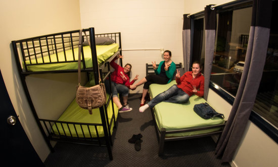 Rock Solid Backpackers : 3 bed Dorm has bed and bunk