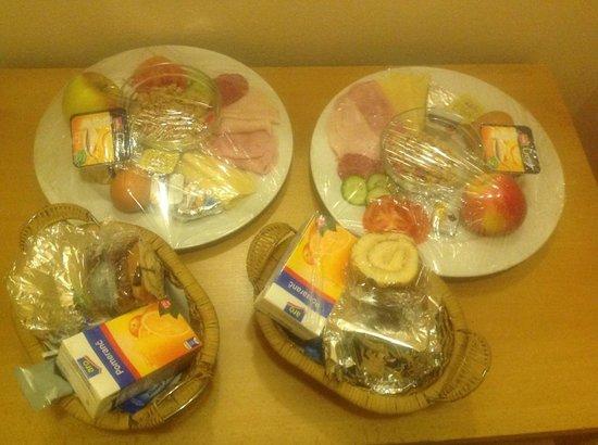 Aparthotel Lublanka : Завтрак сухим пайком