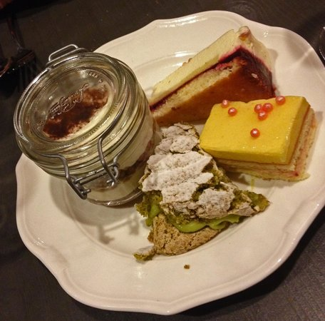Maison Bronzini Le Bistrot du Moulin : Recommend the yellow cake if you like a more passion fruit fresh type of cake, and the tiramisu