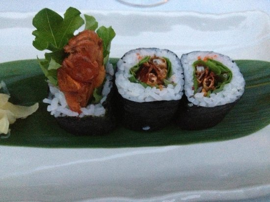 Kura : Soft shell crab maki