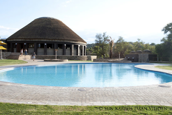 Daan Viljoen Nature Reserve: External view of the Boma Restaurant and Pool