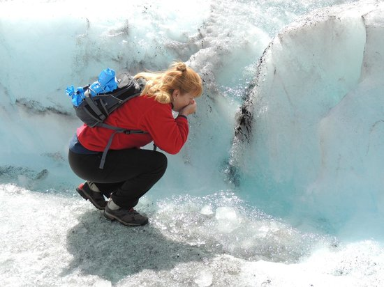 Columbia Icefield Glacier Adventure: drink to your health