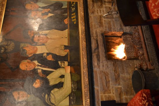 Weavers Inn: Cheery Fire