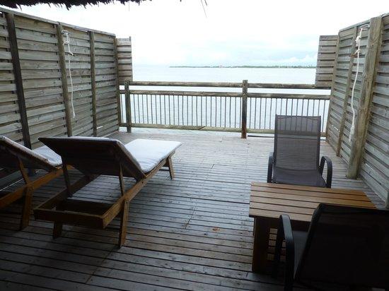 Punta Faro: La terrasse de notre chambre