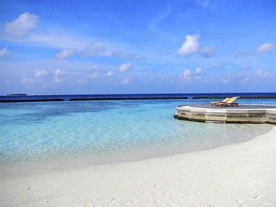 Baros Maldives: The view from our stretch of beach.