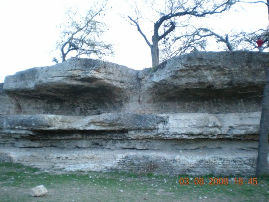 Zilker Metropolitan Park : Part of the rock island