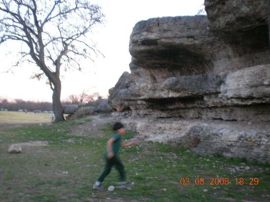 Zilker Metropolitan Park : Size of the rock.