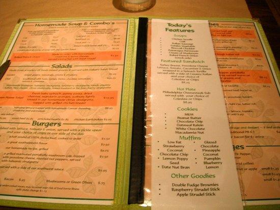 Green House Cafe: menu