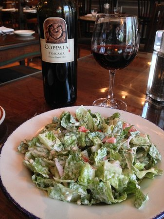 Glass Onion: Great salad. Super Tuscan wine
