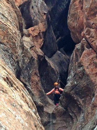 Zion Rock & Mountain Guides: Spaldo scrambling