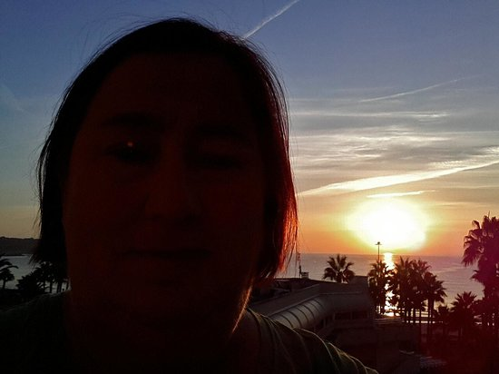 Hipotels Mediterraneo: Sonnenaufgang vom Hotelzimmer aus