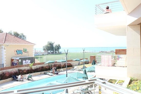 Porto Platanias Beach Resort & Spa: Delvis havutsikt