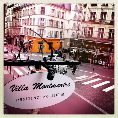 Residence Hotel Villa Montmartre: View from window