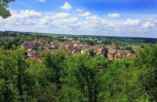 Neufchâteau, France : Vue depuis les crans