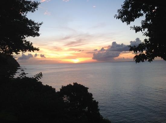 Sunset from Castara Retreats <3