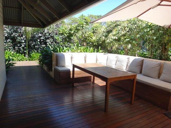 The Billi Resort: Outdoor living area, pretty and private