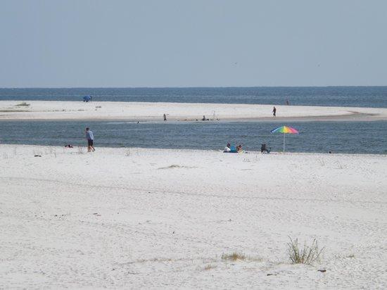 Gulf Breeze Motel : Beach across the street