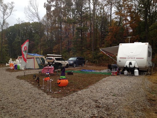 Happy Hills Campground and Cabins: our two sites