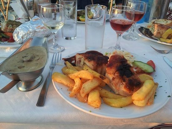 Platanias Palace: Baconpakket kylling