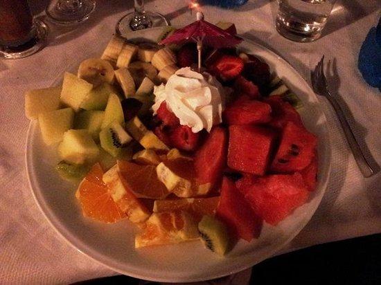 Platanias Palace: Dessert: Fruktsalat