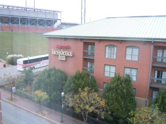Hilton Garden Inn Chattanooga Downtown: AT & T Field view from our room.