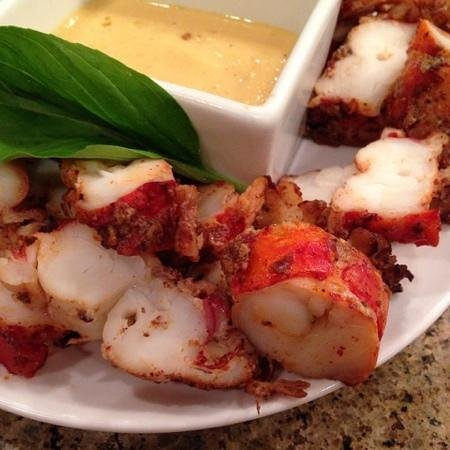 LaSalle Grill : Lobster Bites with a Curry Dipping Sauce