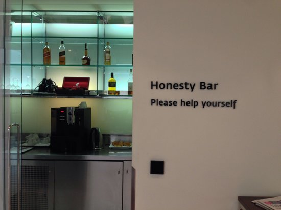 Maximilian Hotel: Honesty bar-very trust worthy concept. You get what you want and they trust you to write it down
