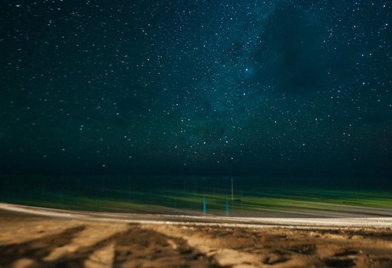 Titikaveka, Ilhas Cook: The stars at night from the Little Poly beach.