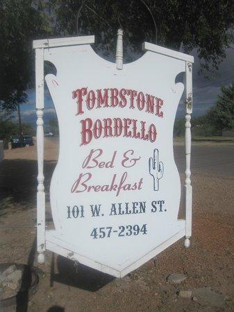 Tombstone Bordello: Book at the Bordello
