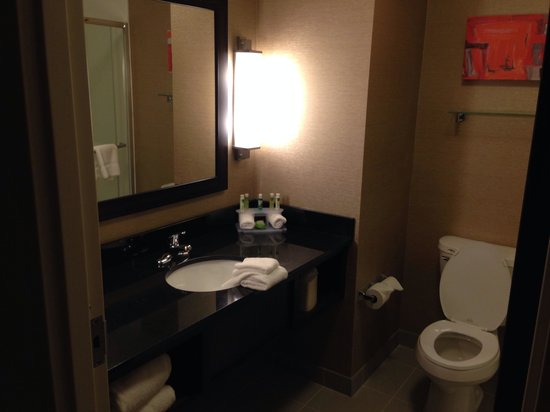 Holiday Inn Express Hotel & Suites Columbus - Easton: Bathroom very clean !!!